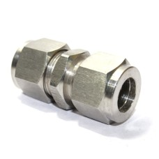SS Union Equal Straight Connector Compression Double Ferrule OD Fitting Stainless Steel 304